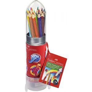 Faber-Castell Set Crayons de couleur Colour Grip Fusée Peindre et Dessiner - Coloris assortis