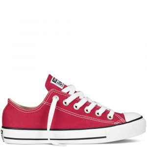 Converse Chaussures casual unisexes Chuck Taylor All Star Basses Toile Rouge - Taille 42,5