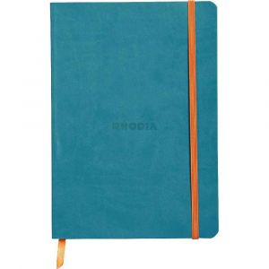 Rhodia 117407C Rhodiarama turquoise - Carnet souple format 14,8 x 21 cm 160 pages
