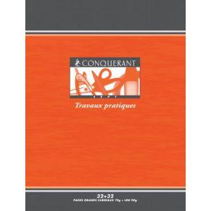 Conquerant 100100452 Cahier Sept T.P. piqué 17 x 22 cm 64 pages 70/90g/m², Grands carreaux/uni