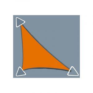 Zodiac Voile d'ombrage Concave 5x5x7m imperméable à l'eau et au vent, de couleur Ivoire - DIRECT FILET