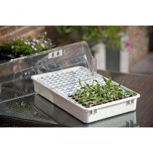 NAT6020203 - Mini-serre culture avec réserve d'eau (22 x 55 x 31cm)