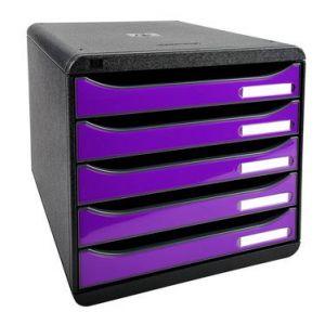 Exacompta 3097220D - BIG-BOX PLUS, coloris noir/violet brillant