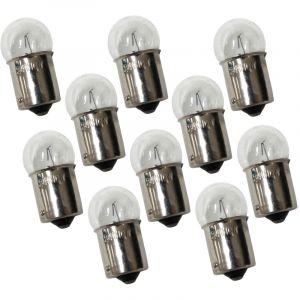 Aerzetix Lot de 10 ampoules 24V R10W 10W BA15S G18 pour camion semi remorque - C1689