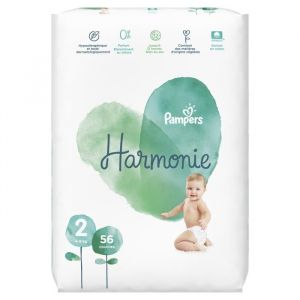 Pampers Harmonie Taille 2, 4-8 kg, 56 Couches