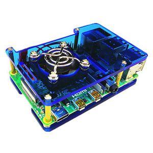 Boitier pour Raspberry Pi 4 (Bleu)