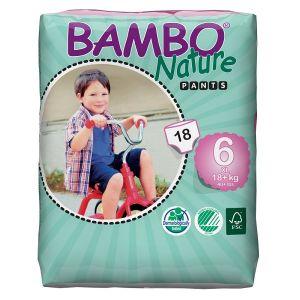 Bambo Nature Culottes d'apprentissage jetables taille 6 XL Plus 18 kg+ - paquet de 18