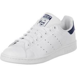 Image de Adidas Originals Stan Smith, Sneakers Basses Mixte Adulte, Blanc (Running White/Running White/New Navy), 36 EU