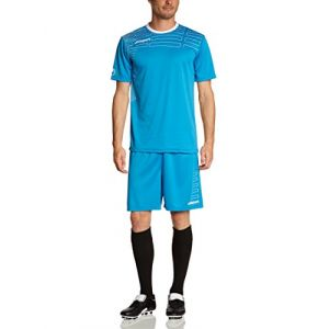 Uhlsport Match Ensemble maillot manches courtes + short de foot Homme Cyan/Blanc FR : XXL (Taille Fabricant : XXL)