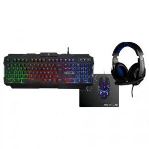 The g-lab Combo Argon Gaming - Clavier + souris optique + tapis + casque filaire