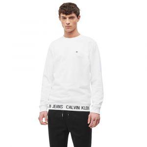 Calvin Klein Sweat droit coton Blanc