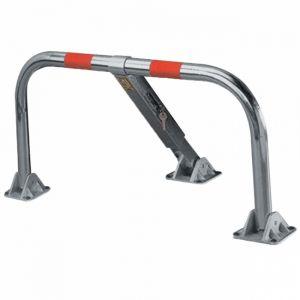 Mottez B307P - Barrière de parking rabattable standard en acier Ø 5cm