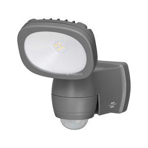 Brennenstuhl Projecteur LED Sur Piles LUFOS 200 Avec Détecteur de Mouvements Infrarouge (210 lm, Utilisation intérieure et extérieure IP44, Durée jusqu'à 30 secondes, Portée jusqu'à 10m), Anthracite