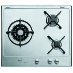 Whirlpool AKT 615/IXL - Table de cuisson gaz 3 foyers