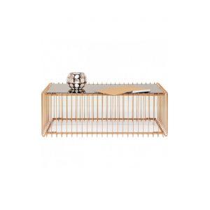 3479059ce94249 Kare Design Table basse 115 cm cuivre et miroir Wire
