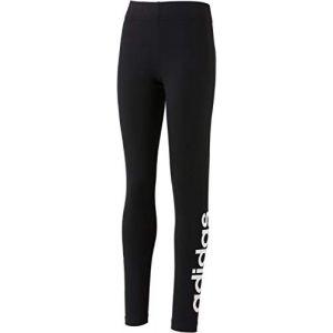 Adidas Yg E Lin Tght Pantalons de Compression Femme, Noir/Blanc, FR : XL (Taille Fabricant : 164)