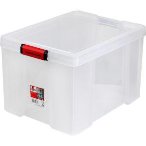 Sundis Bac Et Couvercle Clip & Store 45l Transparent - L'unité
