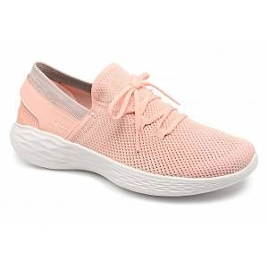 Skechers You-Spirit, Baskets Enfiler Femme, Multicolore (Peach), 40 EU