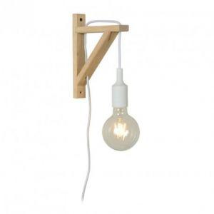Lucide Applique - Potence en bois Fix Wall H22 cm - Blanc