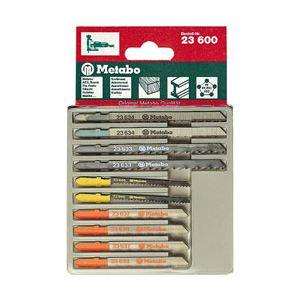 Metabo 6.23600.00 - Assortiment 3 de lames de scies sauteuses H+M+plast 10 pièces