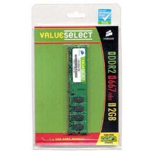 Corsair VS2GB667D2 - Barrette mémoire Value Select 2 Go DDR2 667 MHz CL5 240 broches