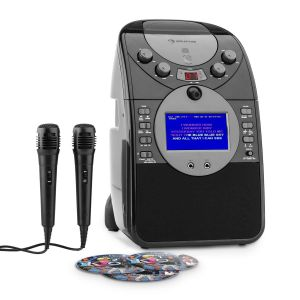 Auna ScreenStar Chaîne karaoké caméra CD USB SD MP3 + 2 micros +3 CD+G
