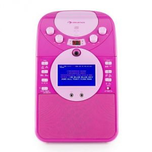 Auna ScreenStar Chaîne karaoké caméra CD USB SD MP3 + 2 micros +3 CD+G