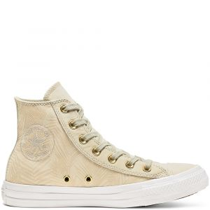 Converse Baskets montantes CHUCK TAYLOR ALL STAR SUMMER PALMS HI vert - Taille 36,37,38,39,40,41,35