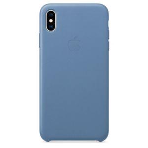 Apple Coque en cuir Bleuet pour iPhone XS Max
