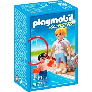 Playmobil 6677 Summer Fun - Maître nageur avec enfant