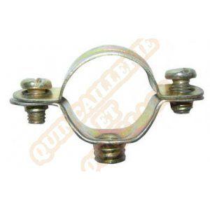 Plombelec Collier de fixation simple Atlas acier bichromaté 7x150 diamètre 32mm boite de 50 pièces