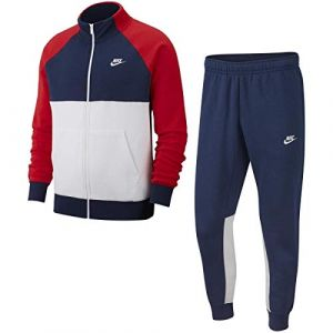 Nike Sportswear Survêtement Homme, Bleu Marine/Rouge Blanc (Midnight Navy/University Red White), XL