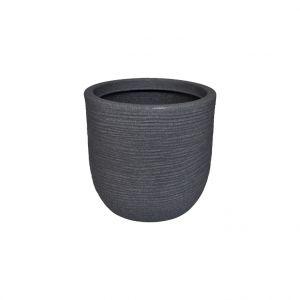 Chapelu Frères Pot rond Granit gris Ø 55 x 60 cm de 123 L