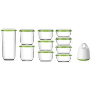 Fosa Kit de mise sous vide alimentaire en récipients 600-850-1350-2850 ml blanc et vert
