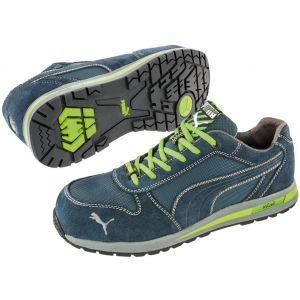 Puma Safety Chaussure de sécurité basse Airtwist Low 100% non métalliques S1P SRC Bleu 41