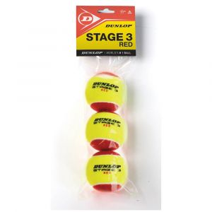 Dunlop Balles tennis Stage 3 - Yellow / Red - Taille 3 Balles