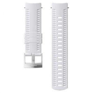 Suunto Pièces détachées Athletic 1 Silicone Strap - White / Steel - Taille One Size