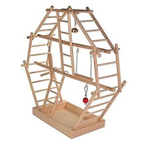 Trixie Aire de jeu en bois avec échelles pour oiseau