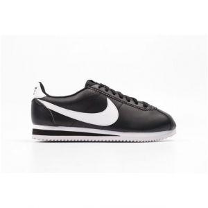 Nike Classic Cortez Leather, Baskets Femme, Noir (Black/White), 38.5 EU