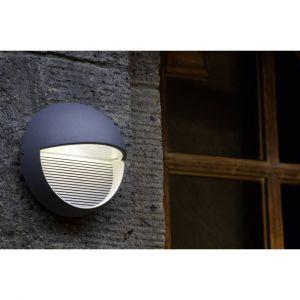 Lutec Applique murale LED extérieure ECO-Light Radius 1865 SI LED intégrée argent