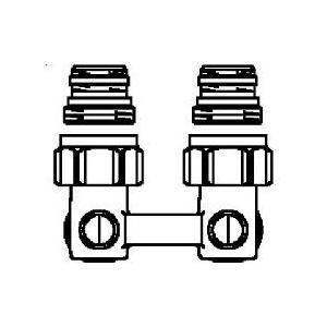 """Oventrop 1015884 - Raccord d'arret équerre ZB """"Multiflex F"""" G 1/2 M x G 3/4 M  à joint souple en laiton"""