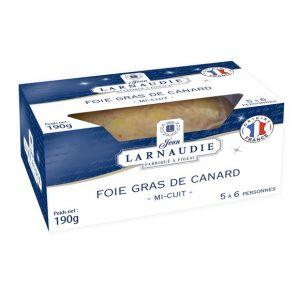 Larnaudie Foie gras de canard france coussin dans pack 190g