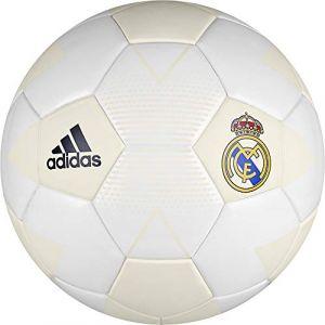 Adidas Maillot de football Real Madrid Mini, crème, Blanc/gris/noir, 1