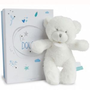 Doudou et Compagnie Peluche pantin ours bleu Le Doudou (20 cm)