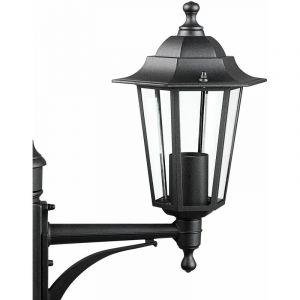 Deuba Lampadaire extérieur Willow IP44 6 surfaces vitrées 3 lanternes candélabre réverbère luminaire de jardin lampe extérieur éclairage