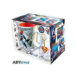 Abysse Corp Pack Mug & Porte-clés & Badges DC Comics - Superman
