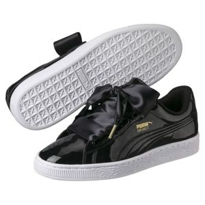 Puma Basket Heart Patent, Baskets Basses Femme, Noir (Black-Black), 41 EU