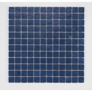 U TILE Mosaique en resine imitation pierre 100 x 50 cm carreau 2,5 x 2,5 cm bleu nuit