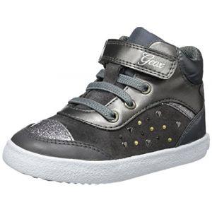 Geox B Kiwi A, Sneakers Basses bébé Fille, Gris (DK Grey), 22 EU