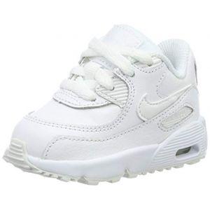 Nike Chaussure Air Max 90 Leather pour Bébé/Petit enfant - Blanc - Taille 23.5 - Unisex